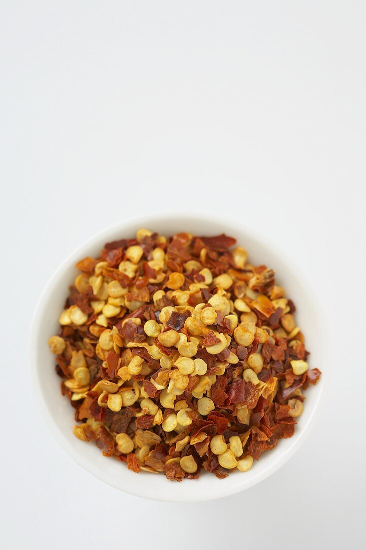 Bowl of Chili Pepper Flakes