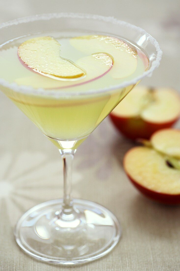 A Red Apple Martini