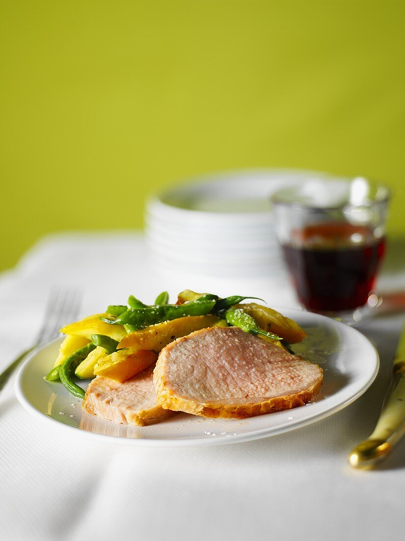 Slice Pork Fillet with Mixed Vegetables