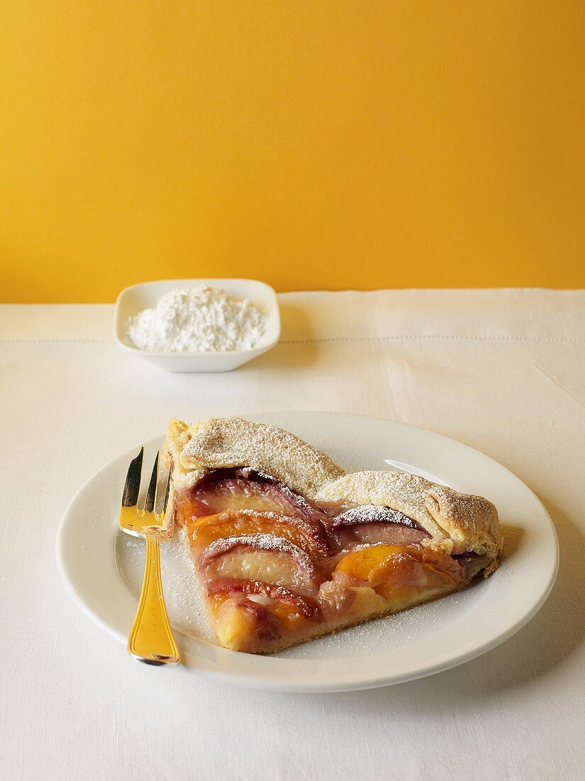 A Slice of Peach, Plum and Nectarine Crostata