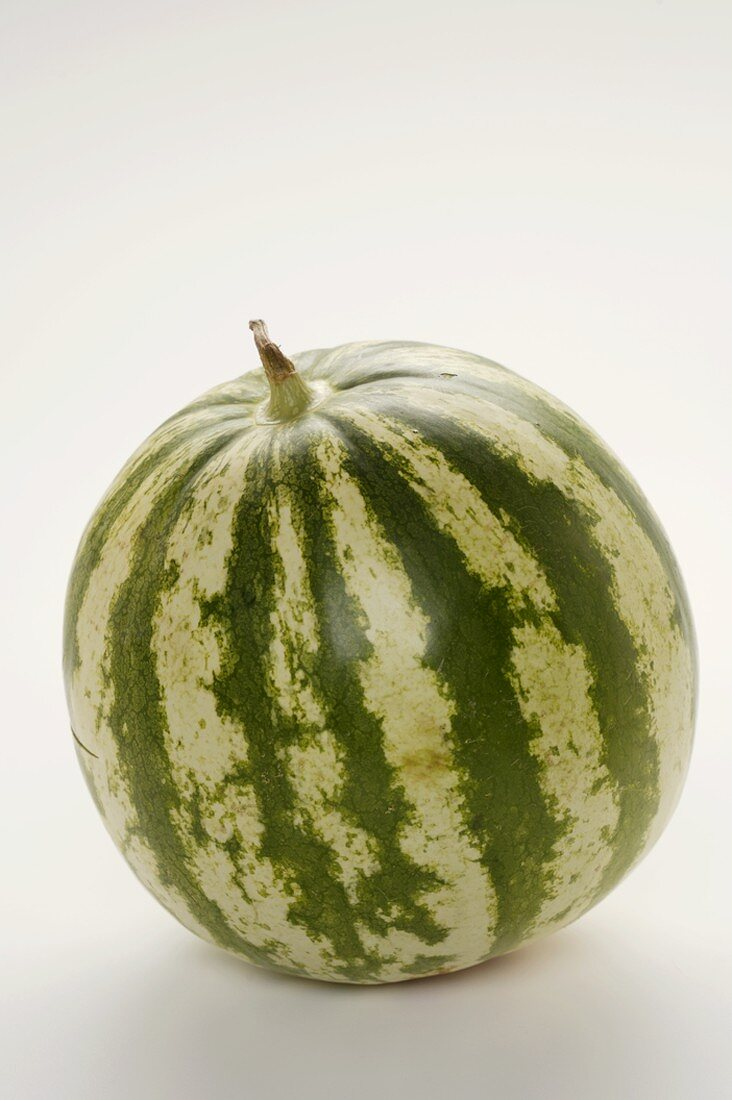 Whole Watermelon on a White Background