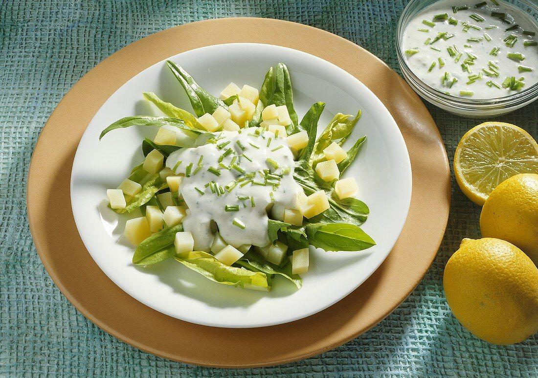 Dandelion Salad with Potatoes