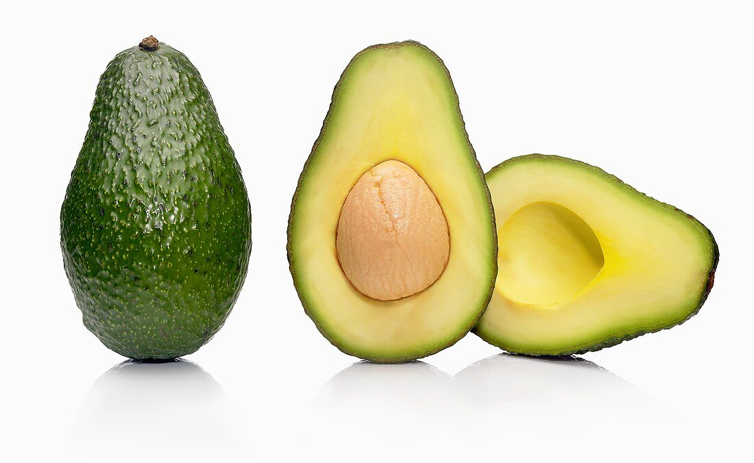 A Whole and a Halved Avocado