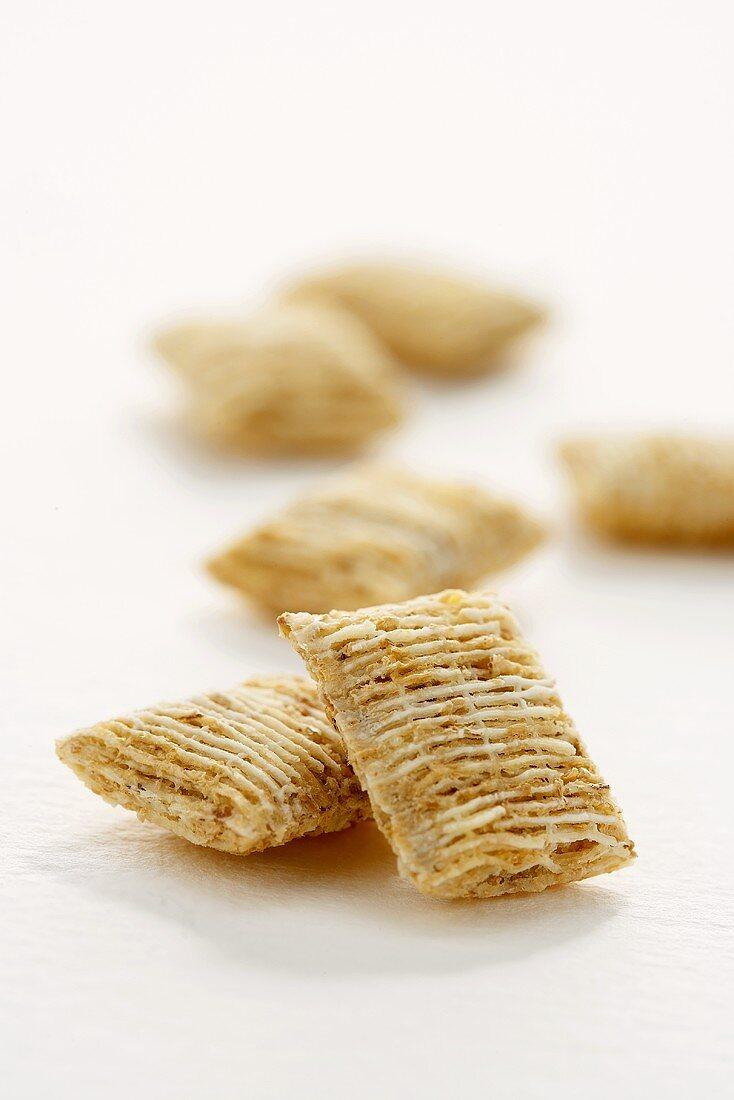 Shredded Wheat Cereal on White