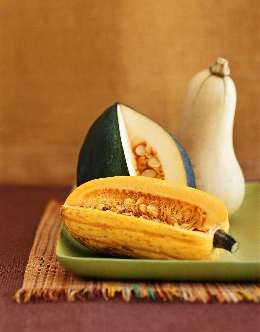 Butternut, Acorn and Banana Squash
