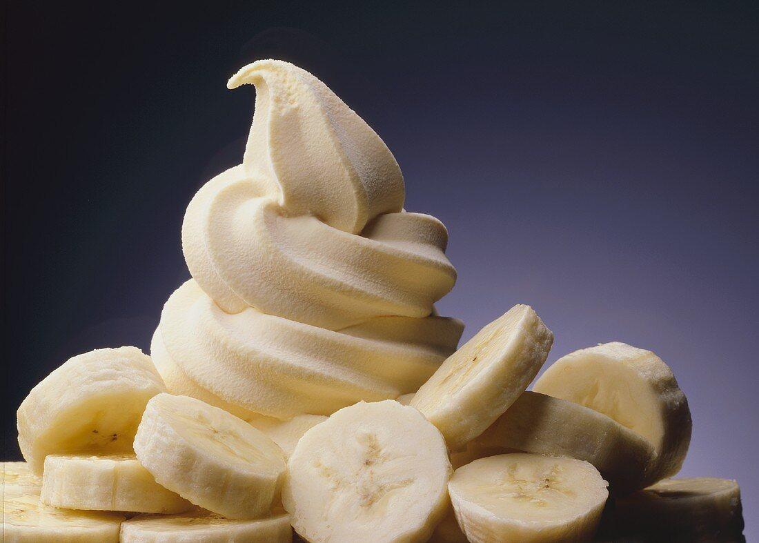 Soft serve banana ice cream