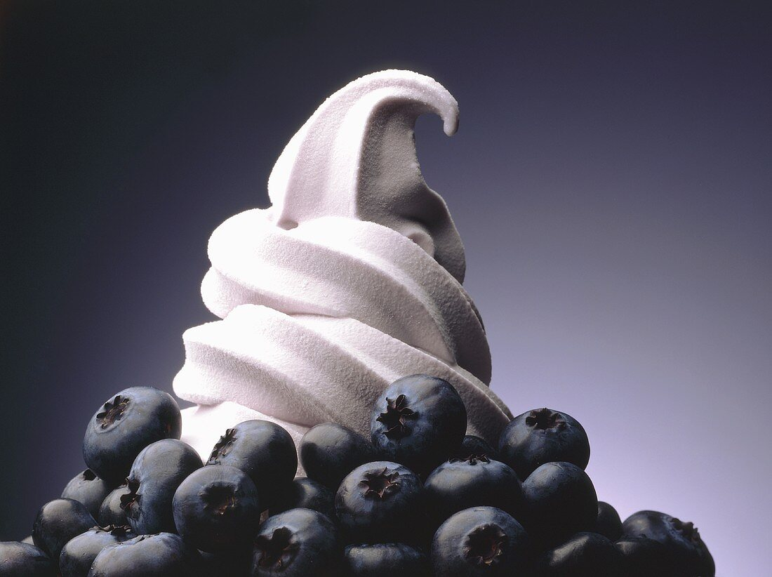 Soft serve blueberry ice cream