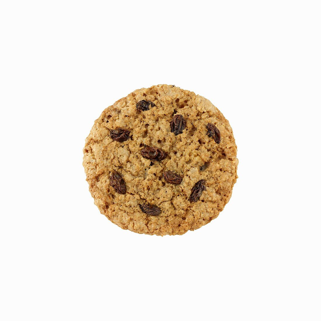 An oat biscuit with raisins