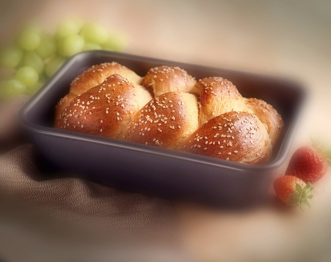 Braided Bread In Loaf Pan