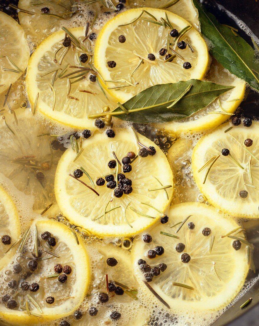 Lemon Pepper Bay Leaf and Rosemary Boil