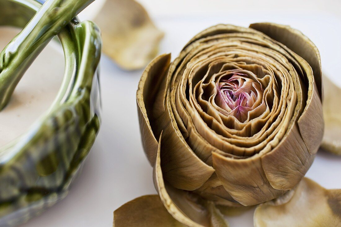 Steamed Artichoke with Dipping Sauce
