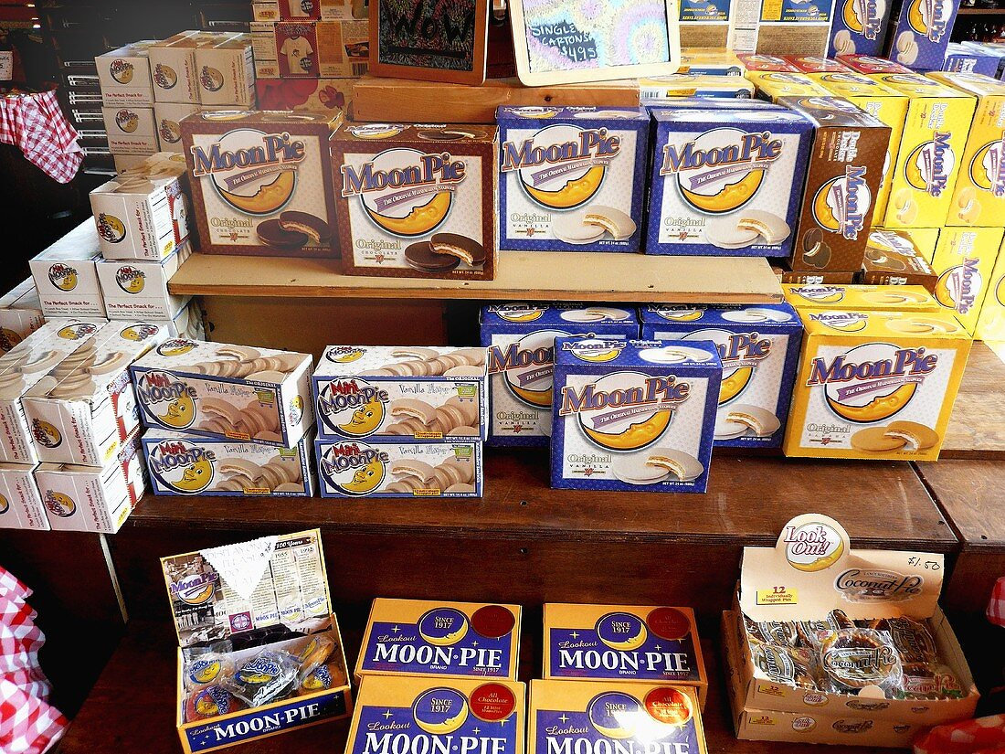 Boxes of Assorted Moons Pies in a Store