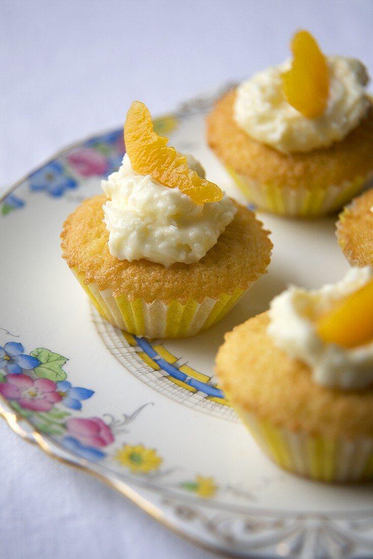 Peach and Coconut Fairy Cakes