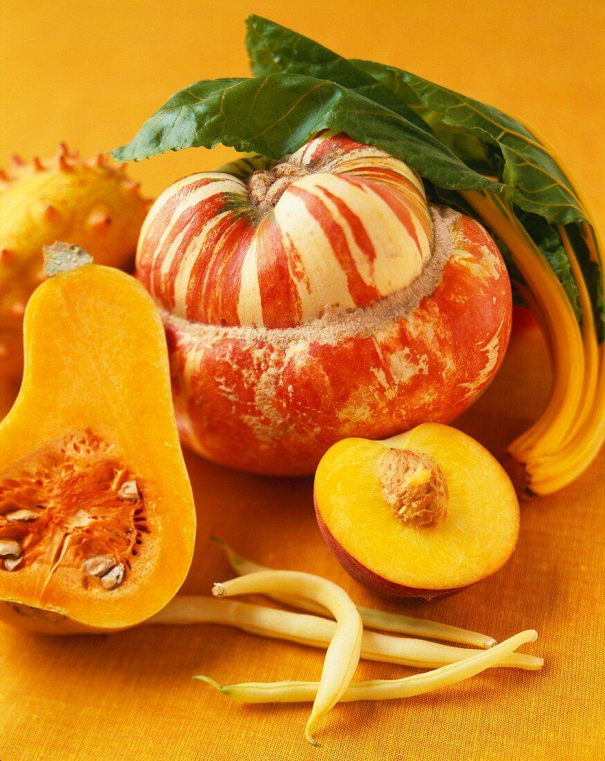 Fresh Mixed Yellow and Orange Produce