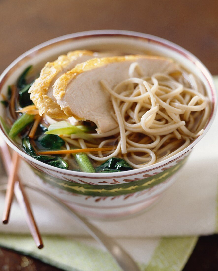 Noodle soup with chicken (Asia)