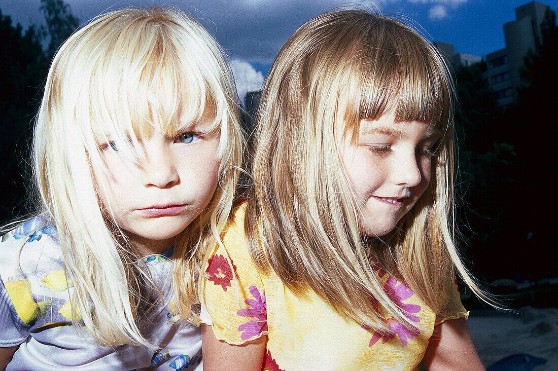 Two Girls, Portrait