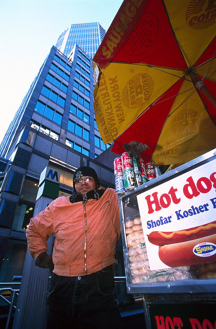 Hot Dog , Manhattan, New York City, USA, America