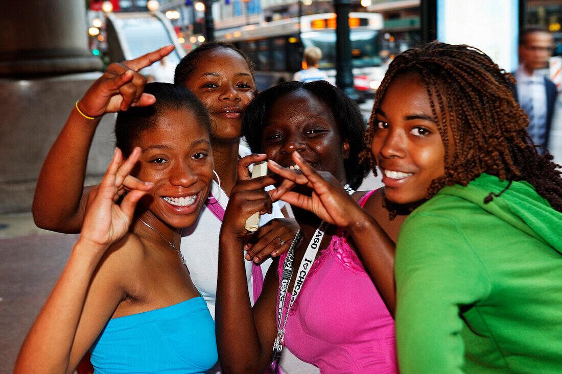 Downtown Girls, Chicago, Illinois, USA