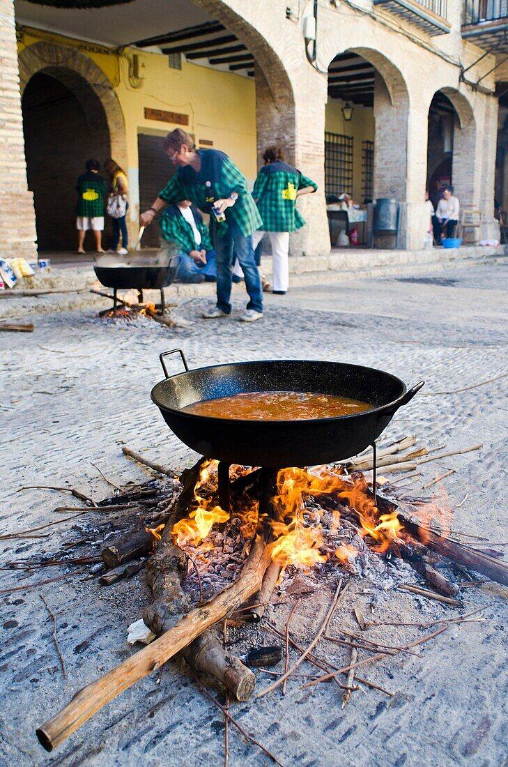 Borja village during tradicional celebration  Saragosse  Aragon, Spain