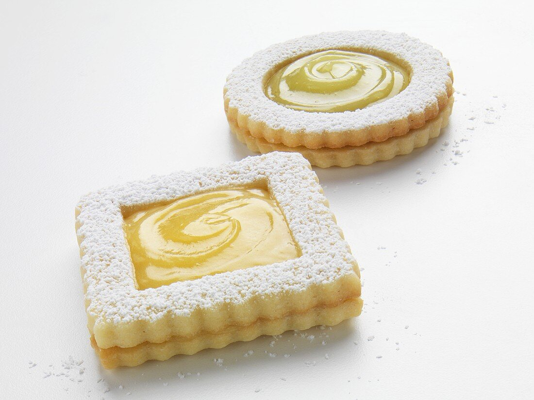 One Lemon Filled Cookie; One Key Lime Filled Cookie