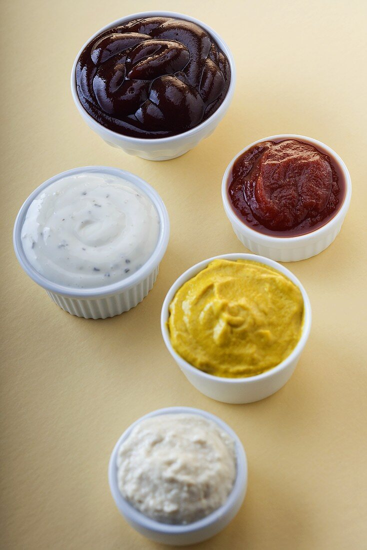 Small Bowls of Organic Condiments