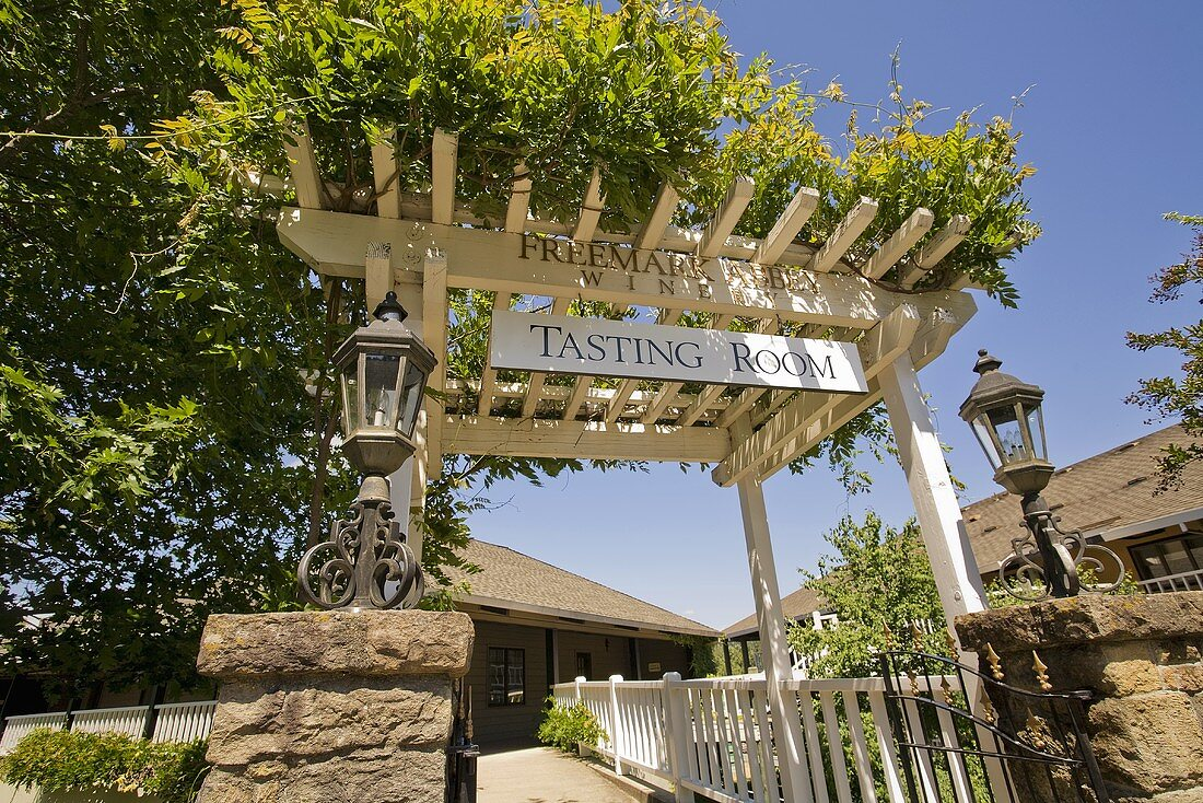 Entrance to Tasting Room at Freemark Abbey Winery
