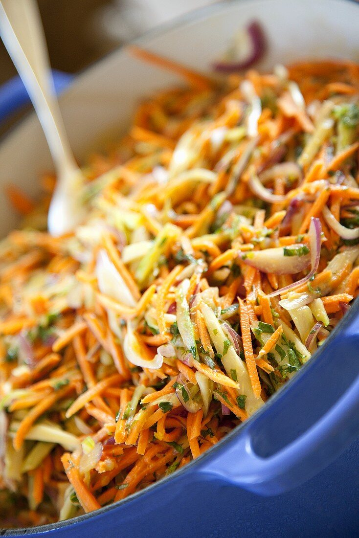 Asian Carrot Cole Slaw with Cilantro
