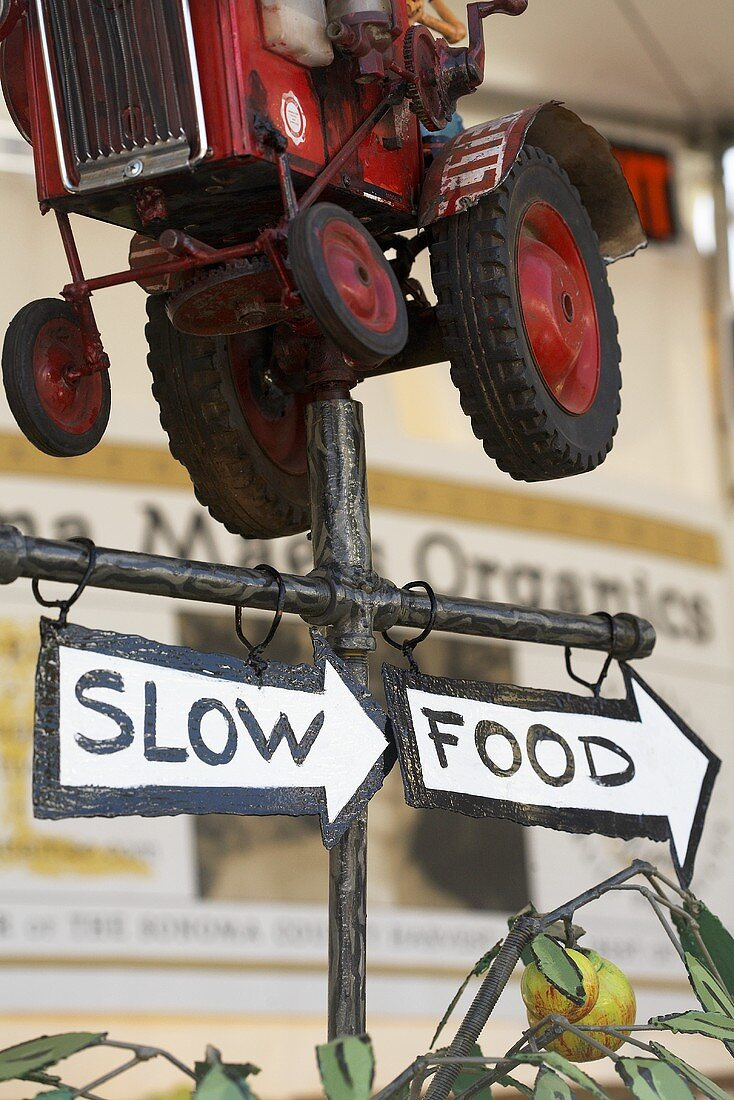 Slow Food Tractor Sign