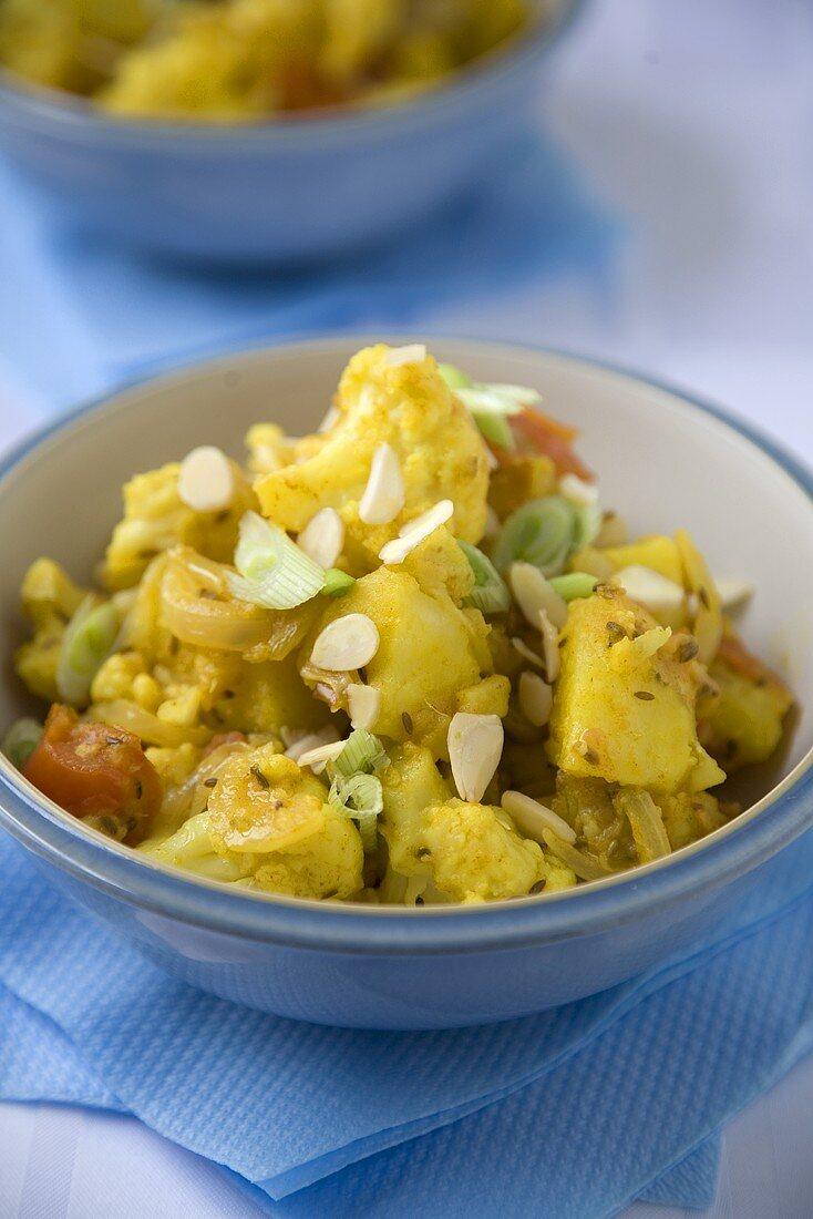 Spicy Potato and Cauliflower Salad