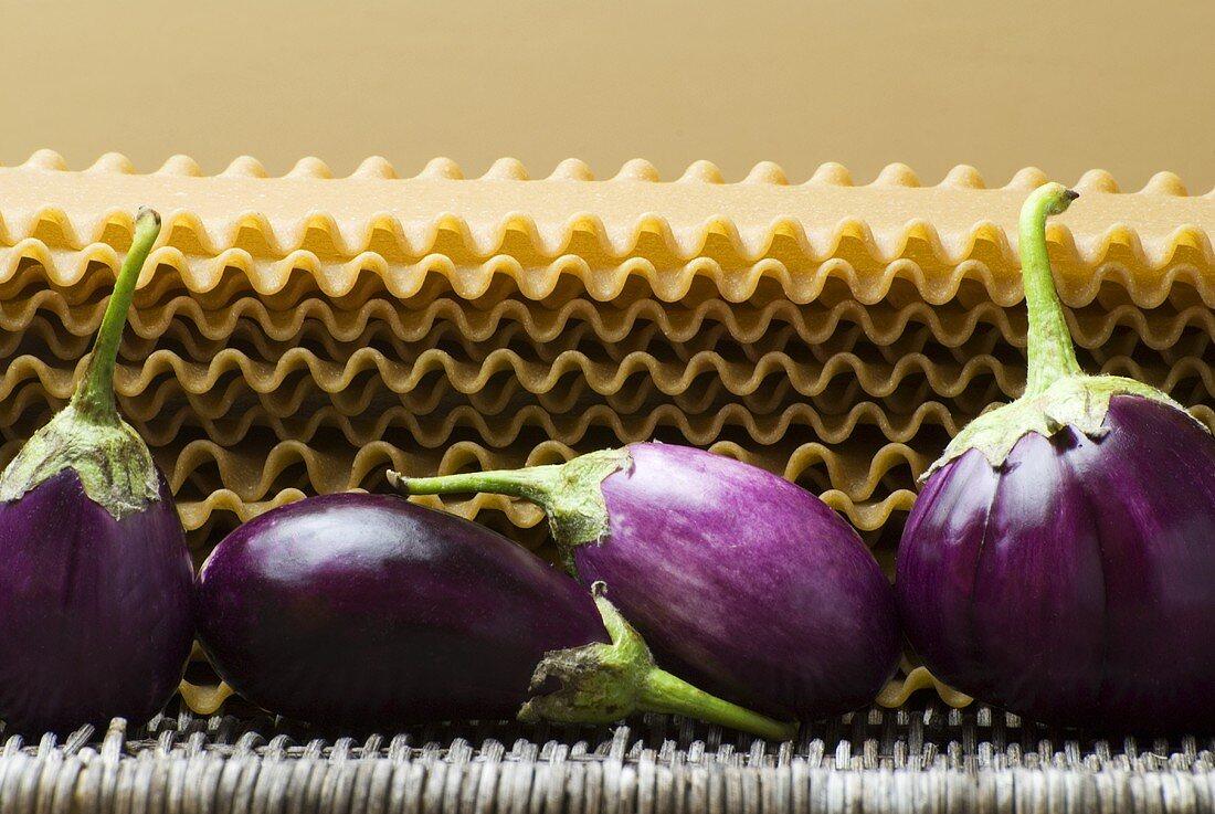 Eggplant with Lasagna Noodles