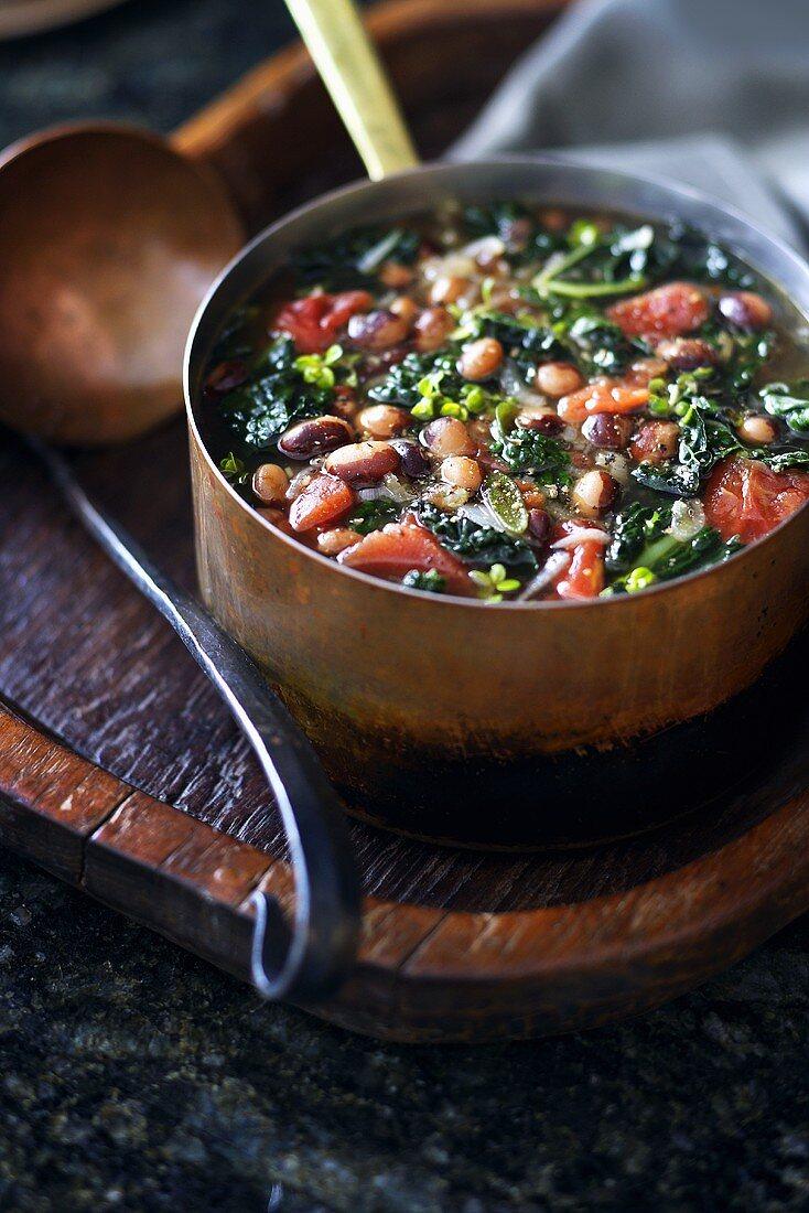 Calypso Bean Soup in Small Pot