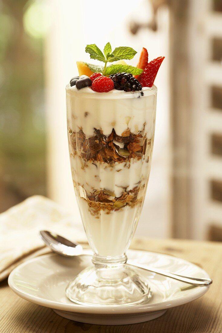 Granola Yogurt Parfait with Fruit