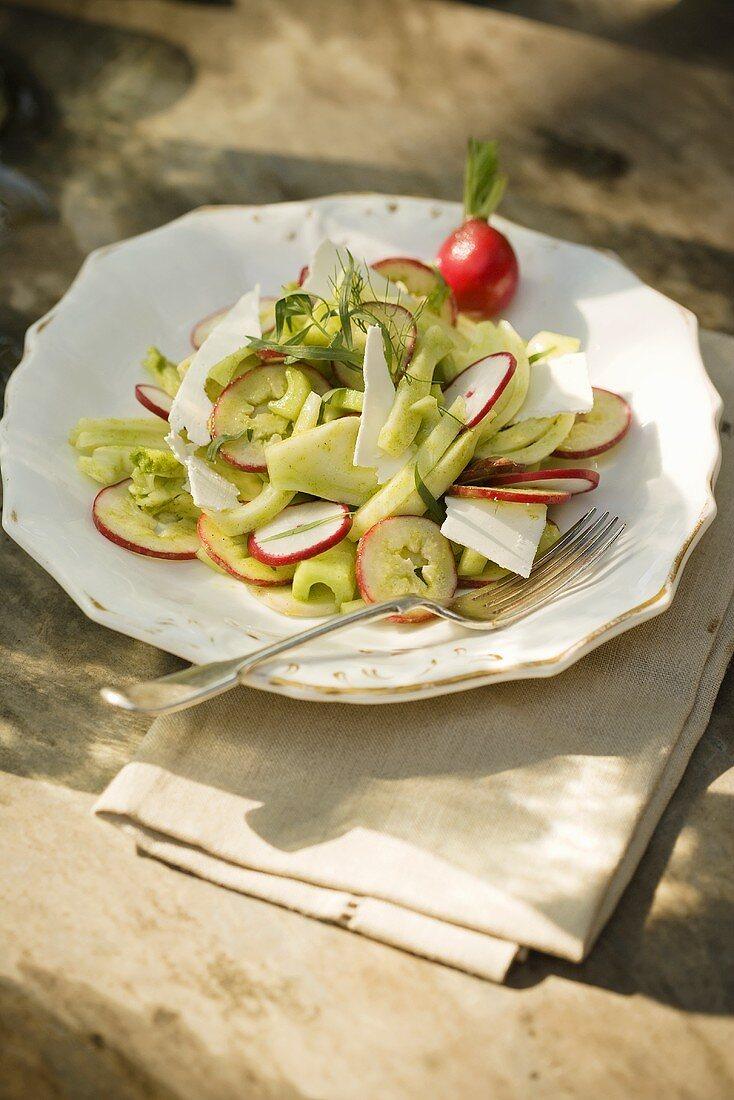 Insalata romana (Celery and fennel salad with Ricotta Salata)