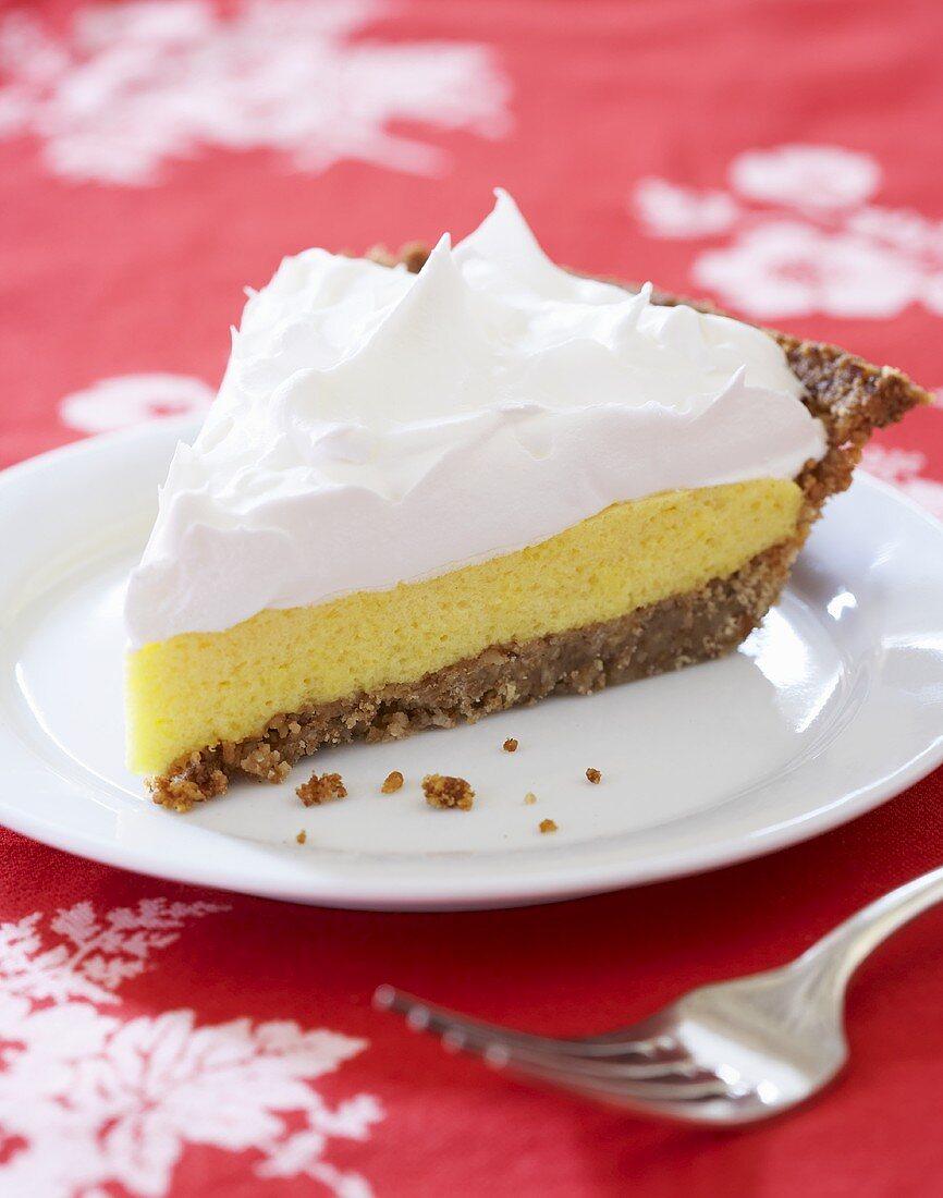 Slice of Millionaire's Pie; Pineapple Chiffon Pie