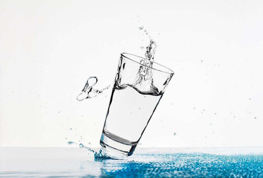 Glass of water, Waterdrops, Drink