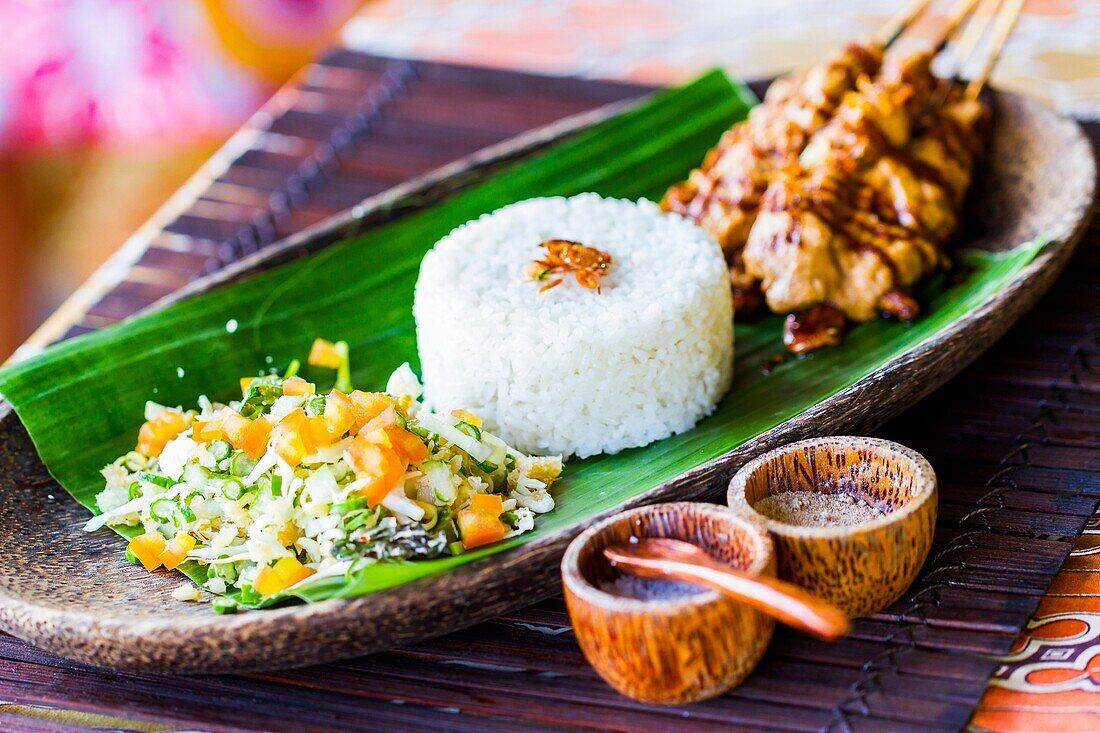 Indonesian rice traditional recipe. City of Yogyakarta, Java island, Indonesia, Asia.