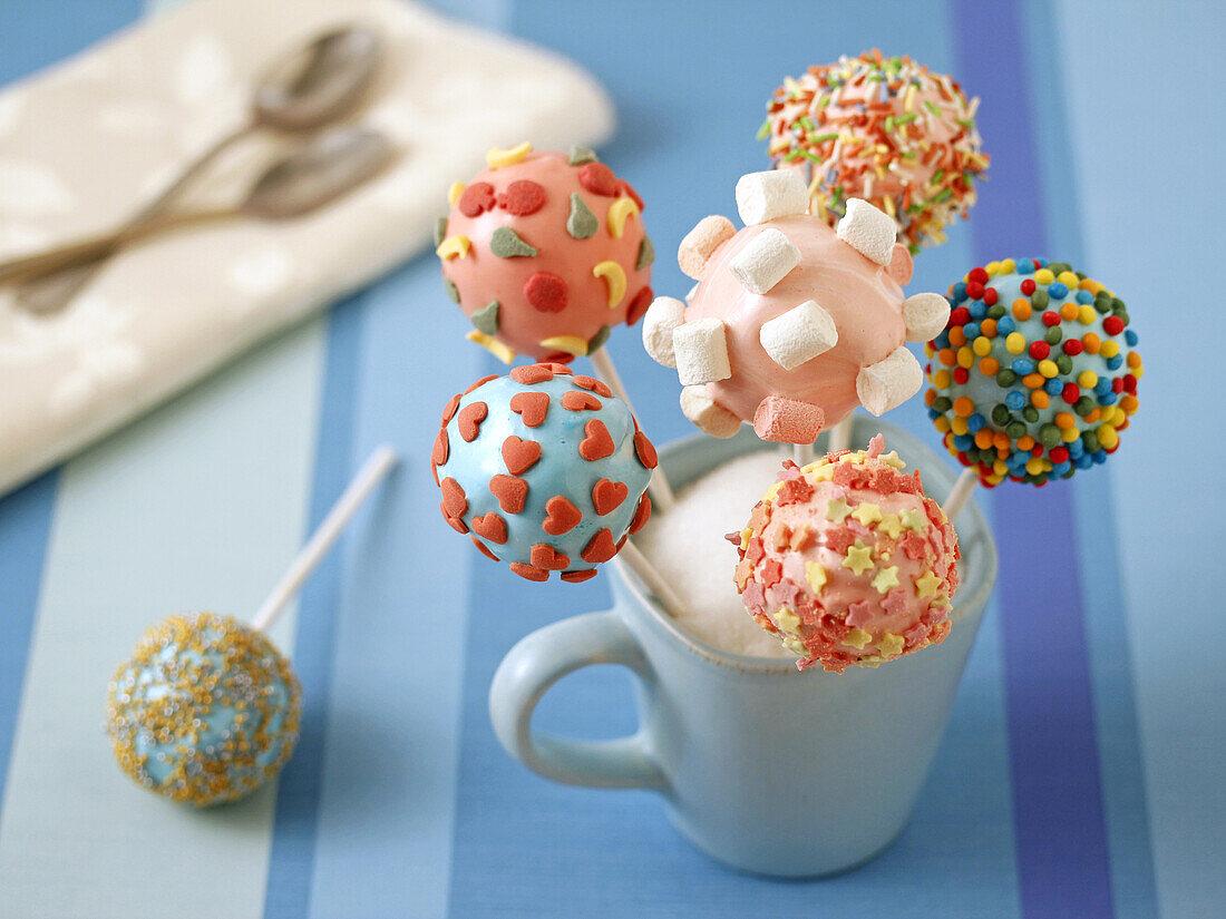 Marshmallow cake pops.