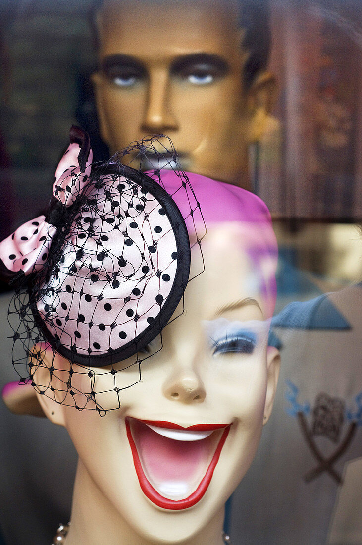 'A dummy of one of the boutiques in the East Village. The East Village is full of surprises that will fit in the strangest shops imaginable. St Mark´s Place is its main artery, a vibrant at any time of day or night that vintage clothing stores, disc hat s