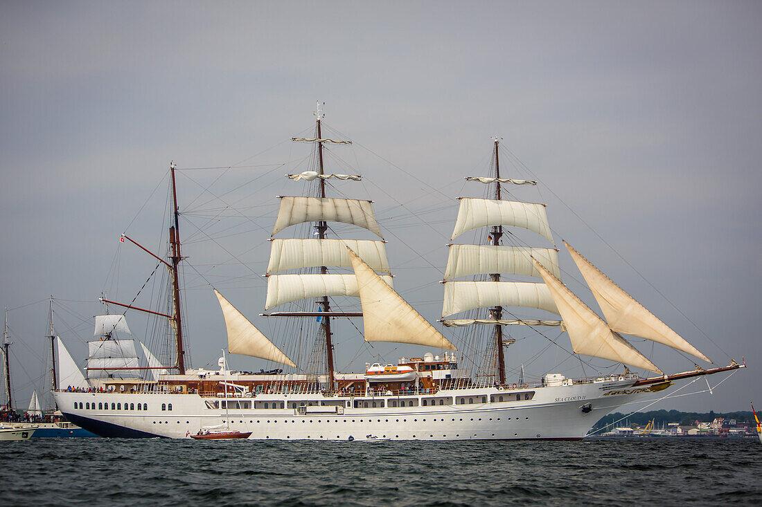 sailingship, Windjammerparade, Kiel Week, Baltic Sea, Kiel, Kiel fjord, Schleswig Holstein, Germany