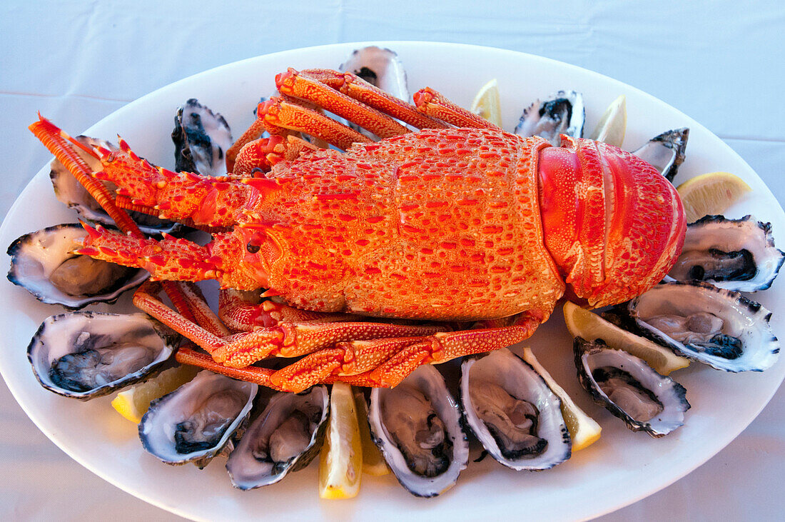 Seafood with crayfish and oyster