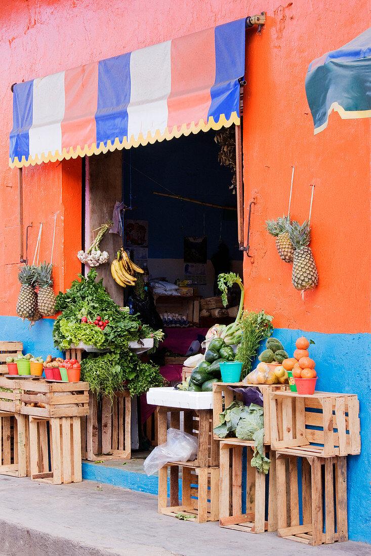 Fruit and Vegetable Shop, Chiapas, Mexico