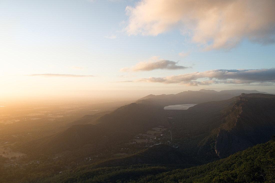 Aussicht vom Boroka Lookout in den Grampians in Victoria, Australien