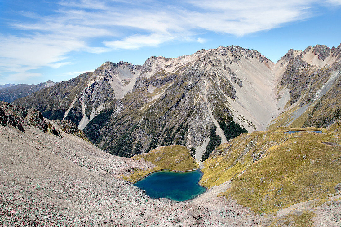 Auf dem Weg zur Angelus Hut im Nelson Lakes National Park, Tasman, Neuseeland