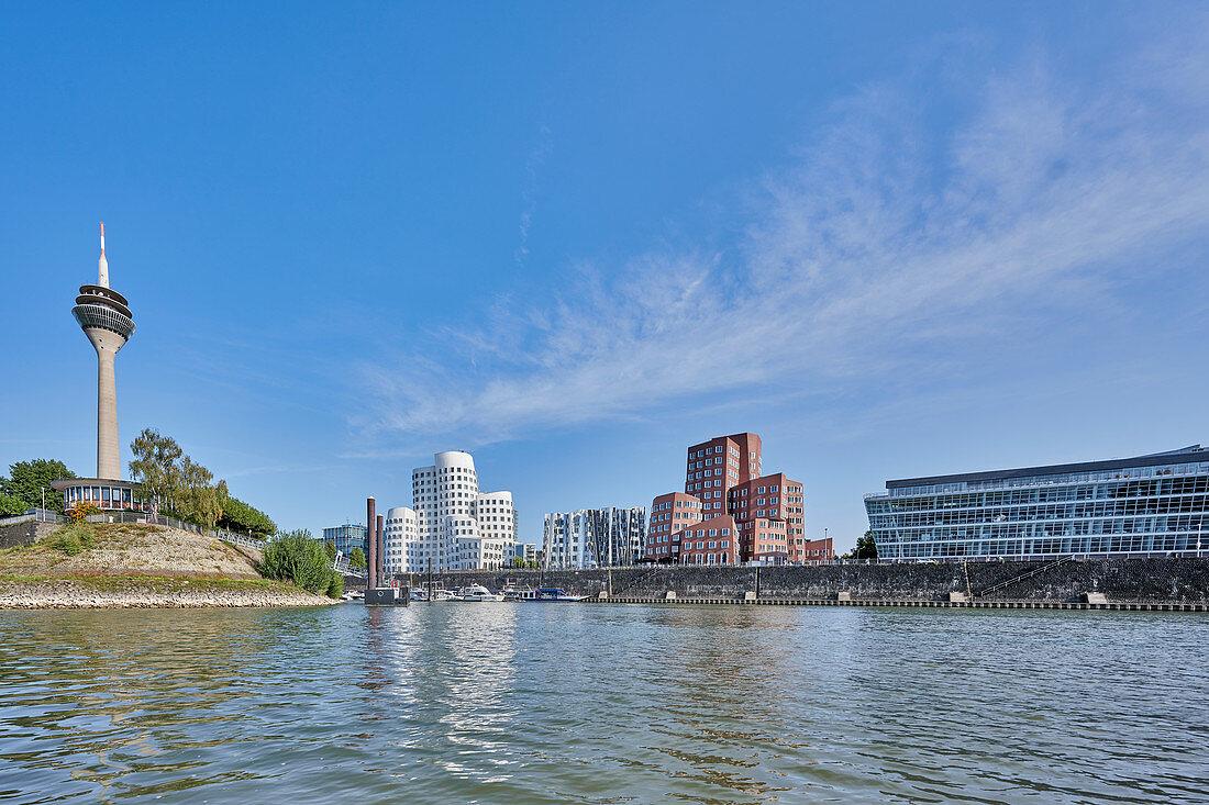 Medienhafen with Gehry buildings, Düsseldorf, Germany