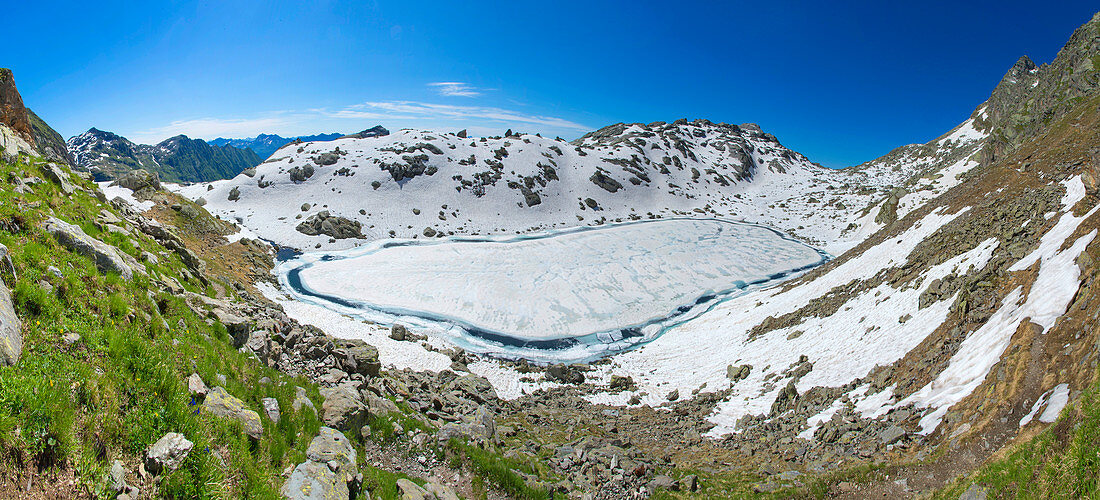 Im Naturpark Texelgruppe, das Gebiet der Spronser Seen, Michsee, Südtirol, Italien