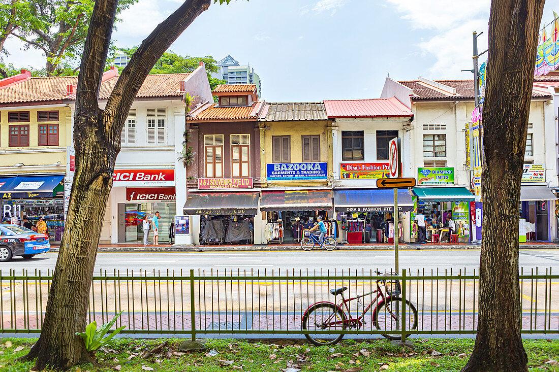 Serangoon Road in Little India, Singapur, Asien