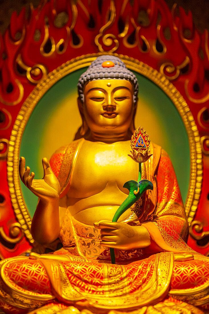 Exponat im Buddha Tooth Relic Temple und Museum, Singapur, Asien