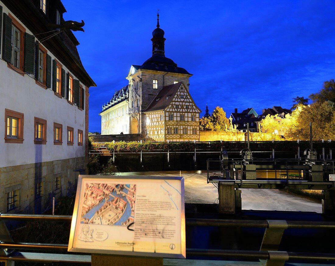 am alten Rathaus, Bamberg, Ober-Franken, Bayern, Deutschland