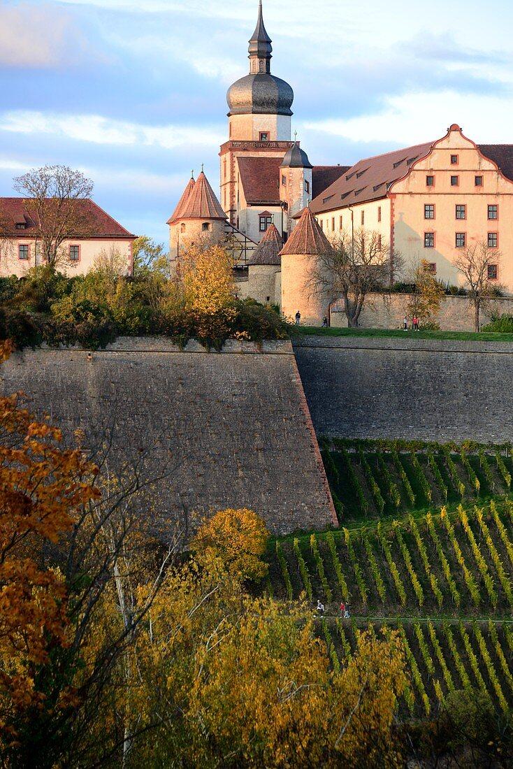 Festung Marienberg, Würzburg, Unter-Franken, Bayern, Deutschland