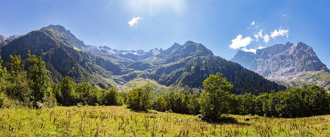 Mountain panorama from Fürenalp, Stäuber, Engelberg, Switzerland